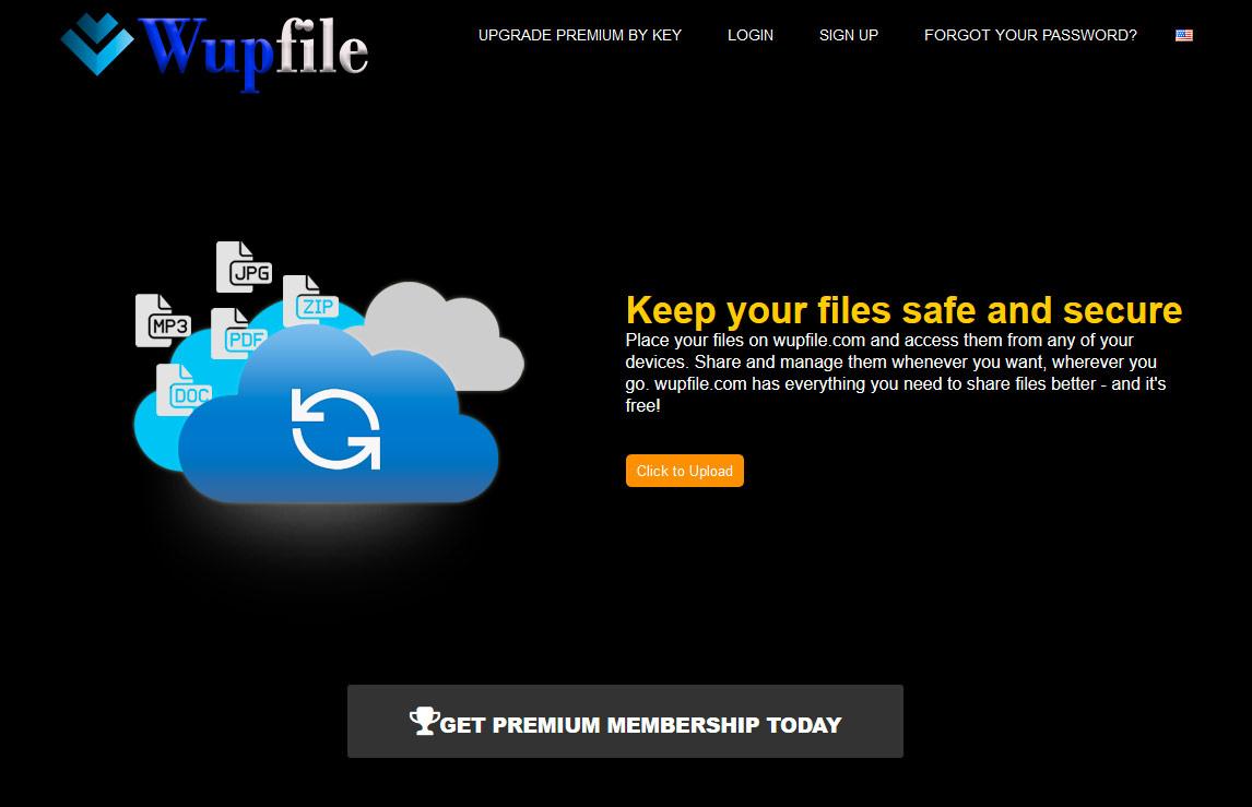 Wupfile.com homepage