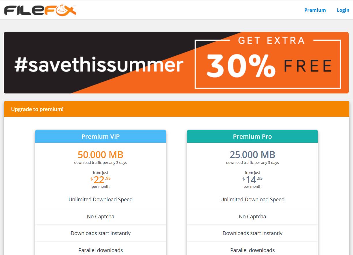 FileFox homepage